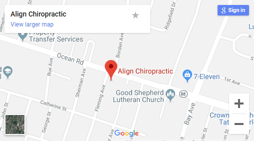 Map of Point Pleasent NJ Chiropractors